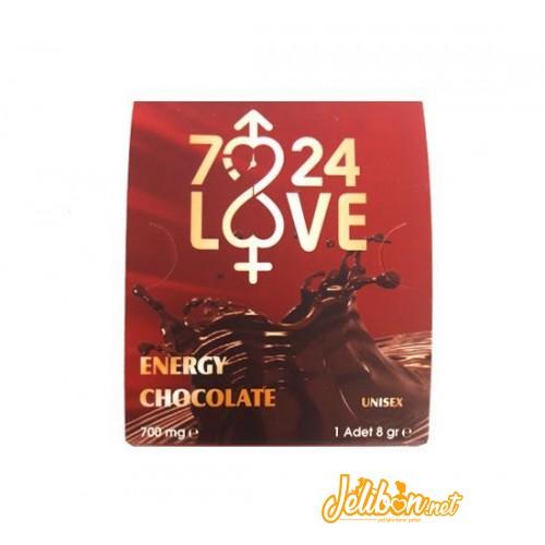 7/24 Love Afrodizyak Etkili Unisex Sıvı Çikolata