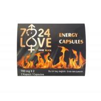 7/24 Love Bitkisel Performans ve Enerji Kapsülü (2li Paket)
