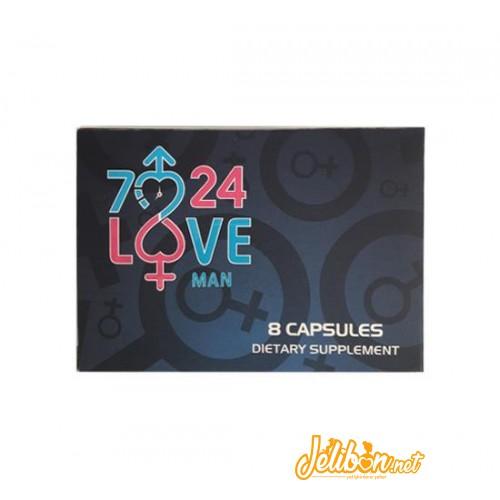 7/24 Love Bitkisel Performans ve Enerji Kapsülü (8li Kutu)