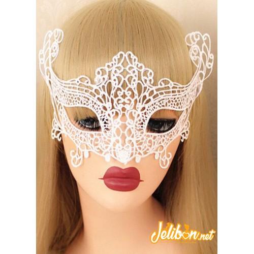 Dantel İşlemeli Maske