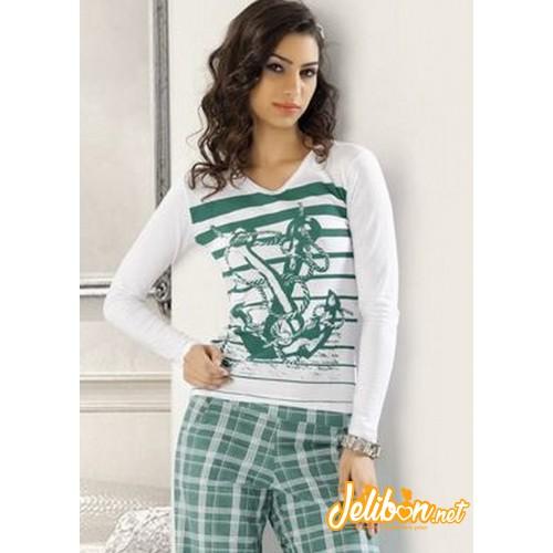 Derya Kurşun 710 Bayan Pijama Takım