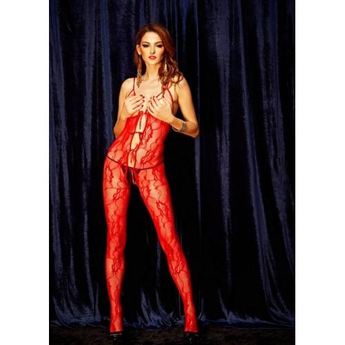 Missvera 0476 Fantazi Kırmızı Vücut Çorabı