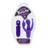 Sux Butterfly Klitoral Uyarıcılı Silikon Vibratör - Mor