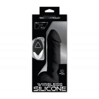 Wireless Silicone Kablosuz Ultra Gerçekçi Vibratör - Zenci 18cm